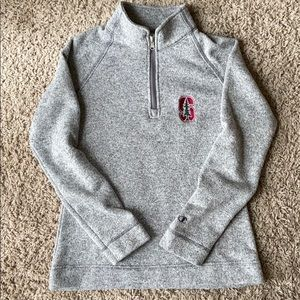 Stanford Champion Grey Sweater Fleece Pullover M
